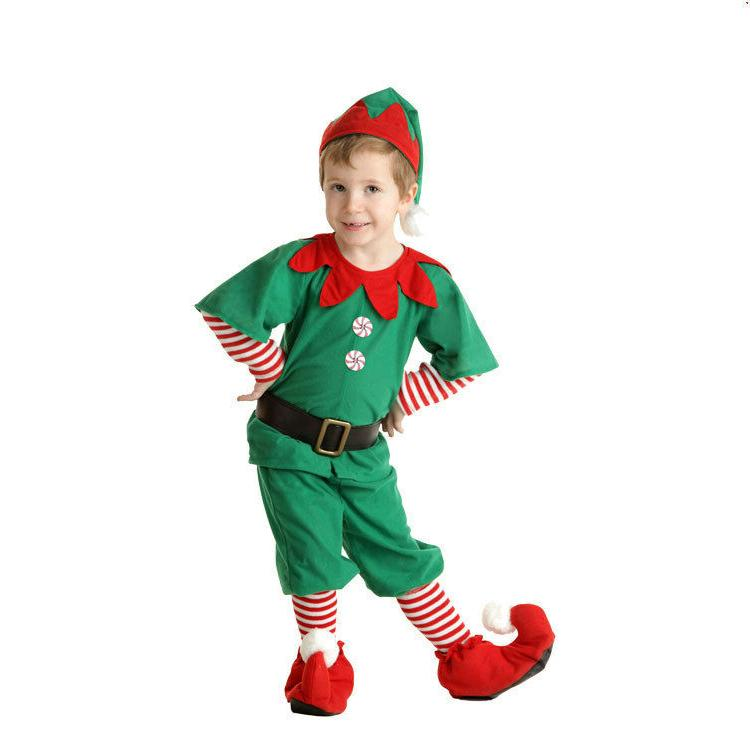 Adult Christmas Elf Children's Clothing Christmas Costumes