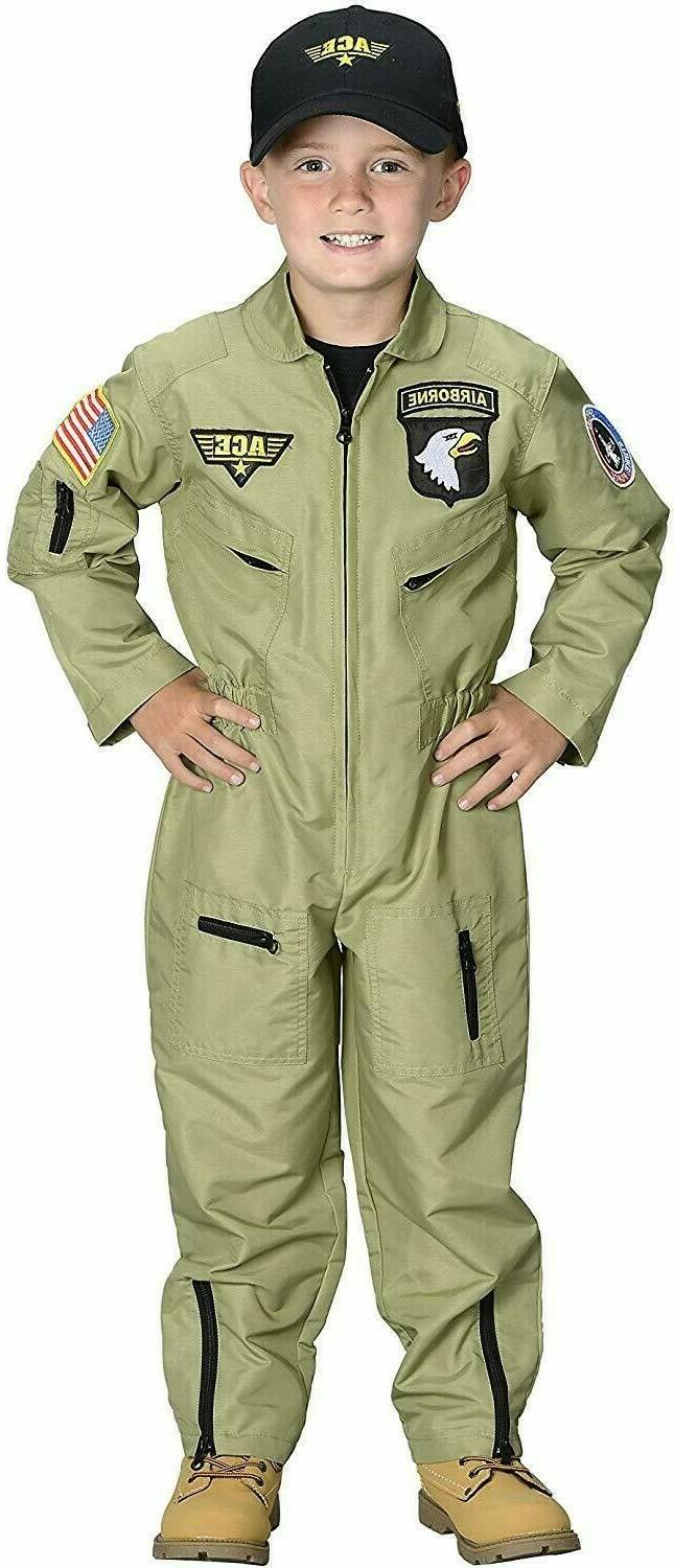aeromax jr fighter pilot suit costume embroidered