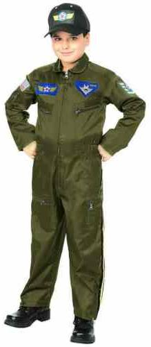 Air Force Fighter Pilot Top Gun Flight Suit Fancy Dress Hall