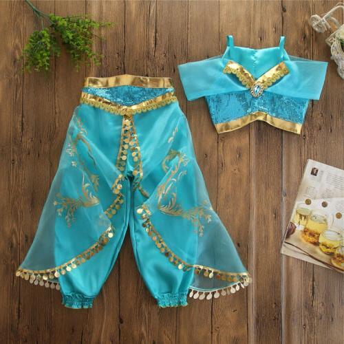 us elegant aladdin jasmine kids girls cosplay