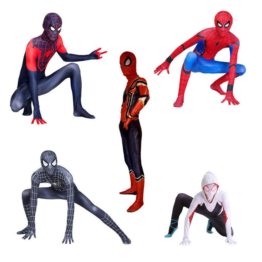 All Spider-Man Costume Halloween Zentai men girls