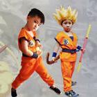 Anime Dragon Ball Z GoKu Kids Cosplay Costume Set Fancy Suit