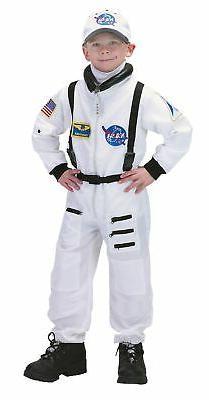 Astronaut White NASA Suit Child Costume Space Aeromax Hallow