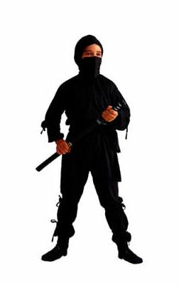 BLACK NINJA CHILD BOY KIDS JAPANESE ASSASSIN SHINOBI SAMURAI