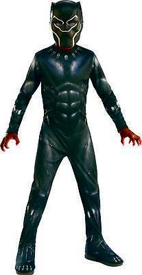 Black Panther Marvel Boys Child Superhero Halloween Costume