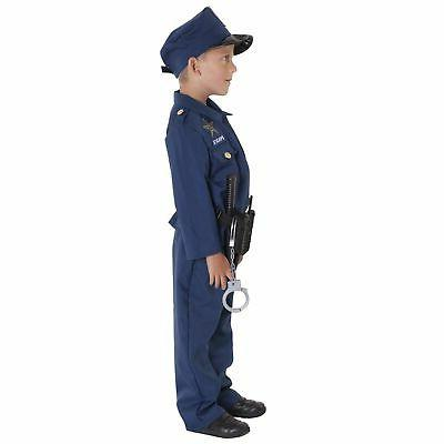 Boy Kids Police Cop Costume Officer with Toys piece set