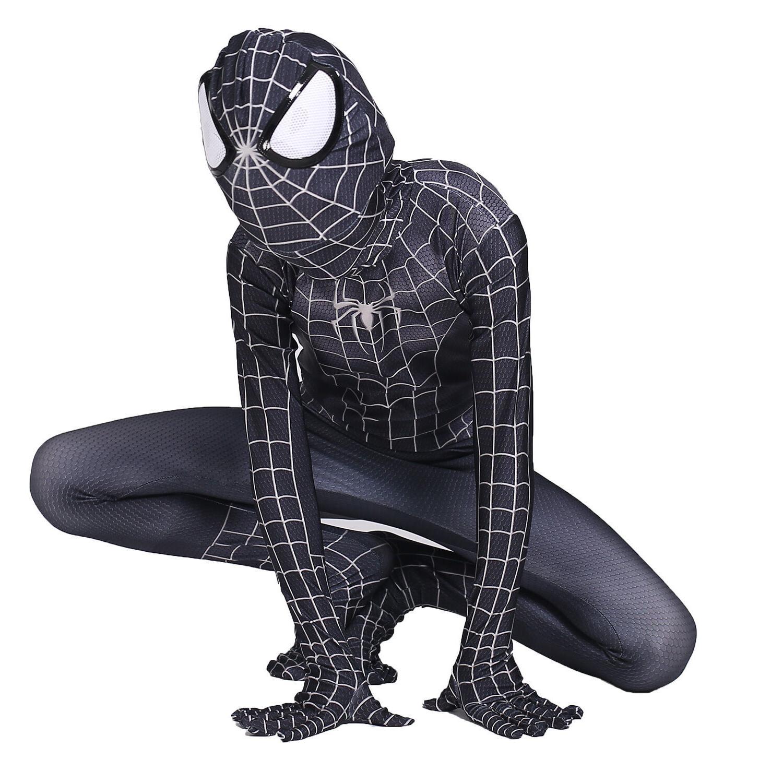 Boys Spiderman Venom Cosplay Kids Halloween Party