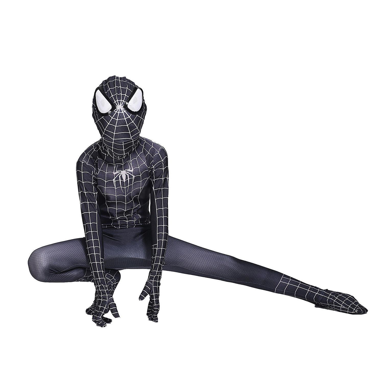 Boys Black Spiderman Venom Cosplay Costume Kids Party