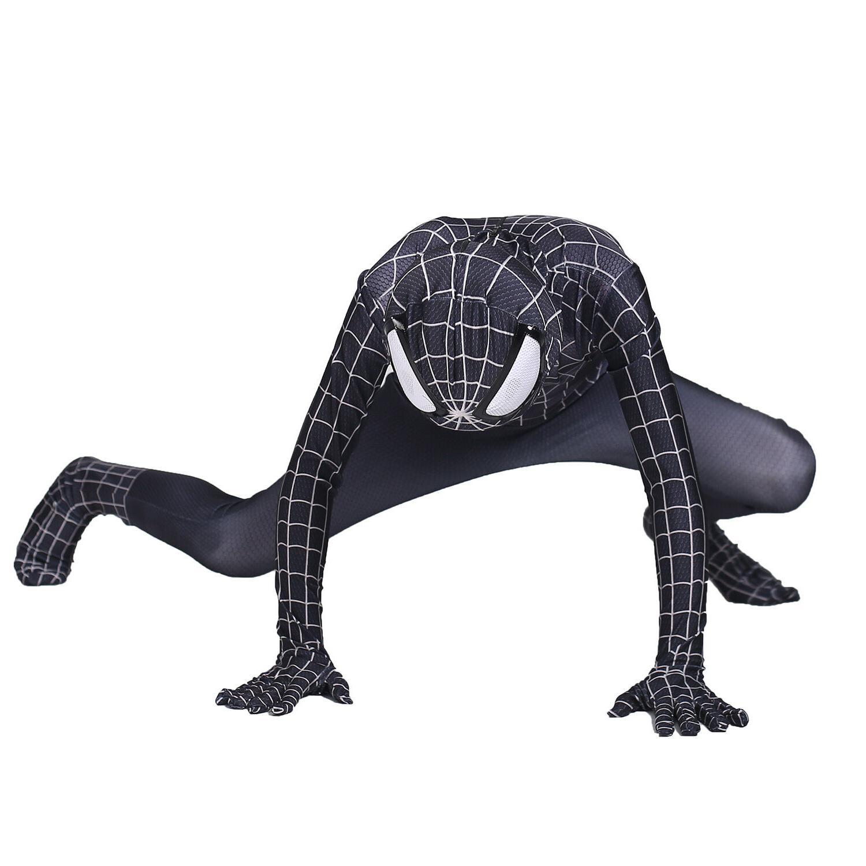 Boys Black Spiderman Cosplay Party