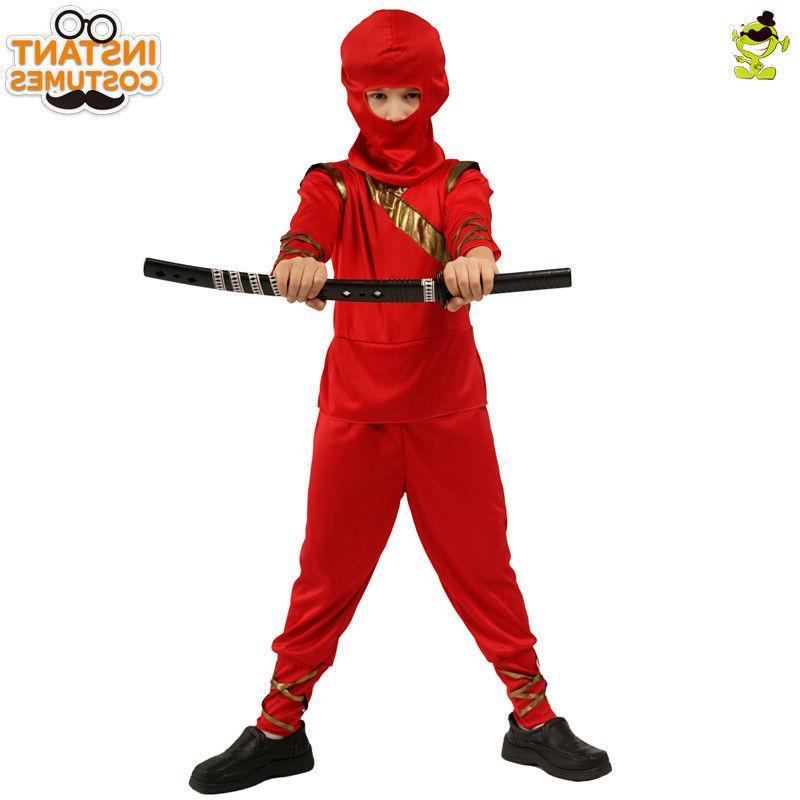 Boys Ninja Kids Masquerade Party Assassin Decoration Fancy Dress