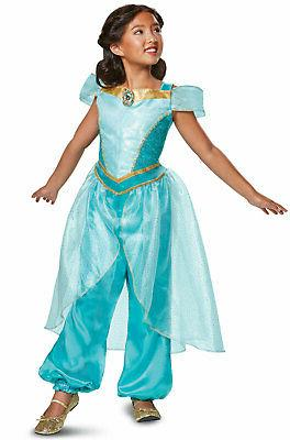 Brand New 2018 Disney Princess Jasmine Deluxe Child Costume