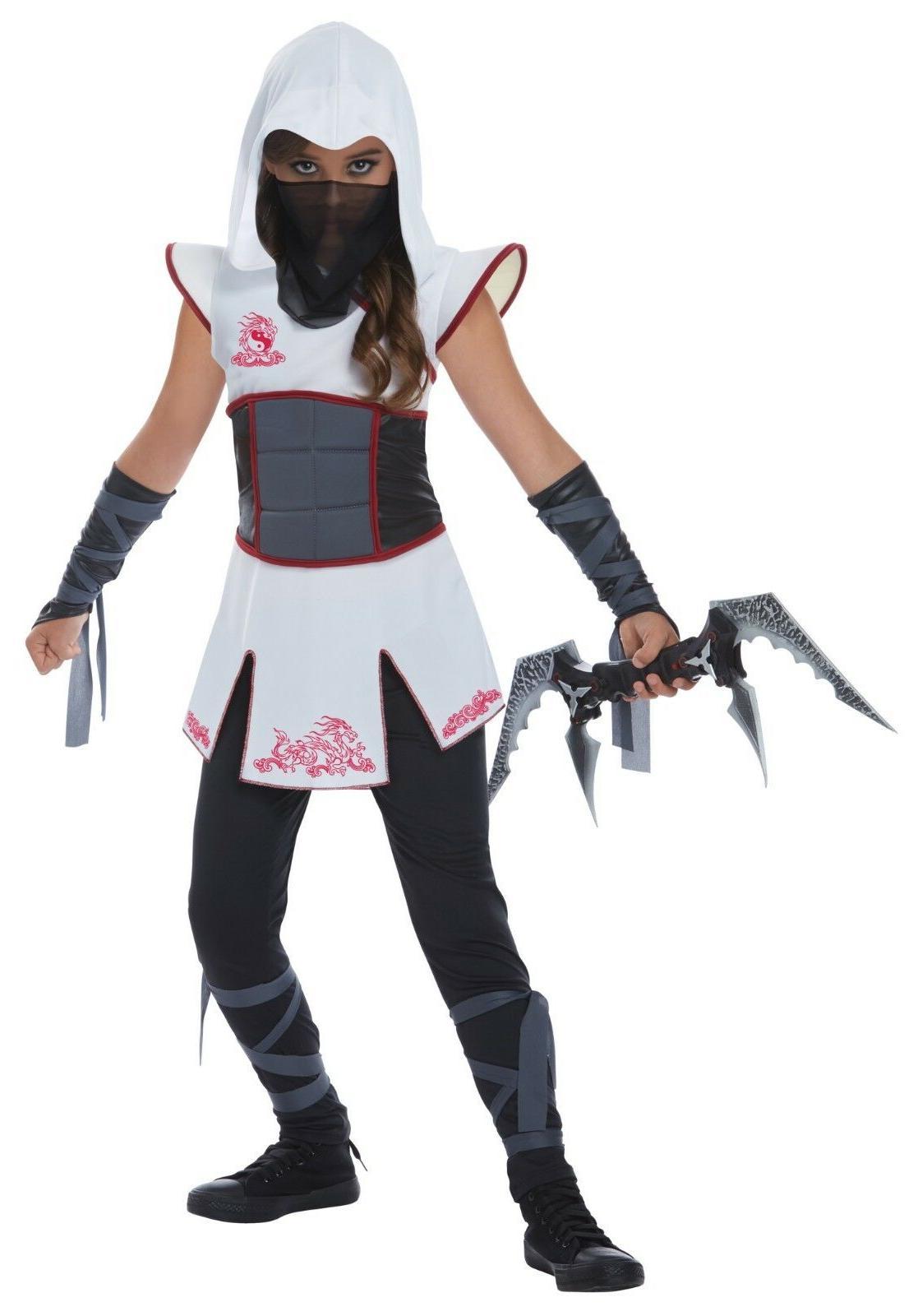 California Costumes White Fearless Ninja Girl Kids Children