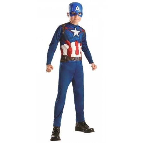 Captain America Costume Kids Halloween Fancy Dress