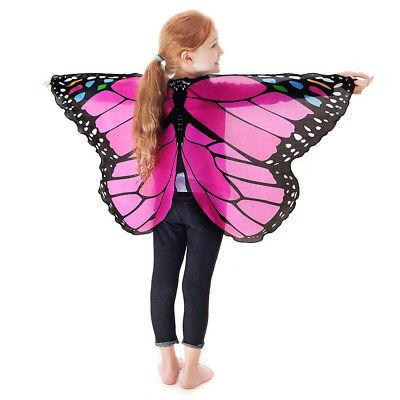 Children Kids Girls Chiffon Pashmina Butterfly Costume Accessories XI