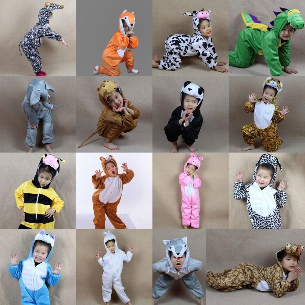 Children Kids Halloween Cartoon Animal Costume Costumes Jump