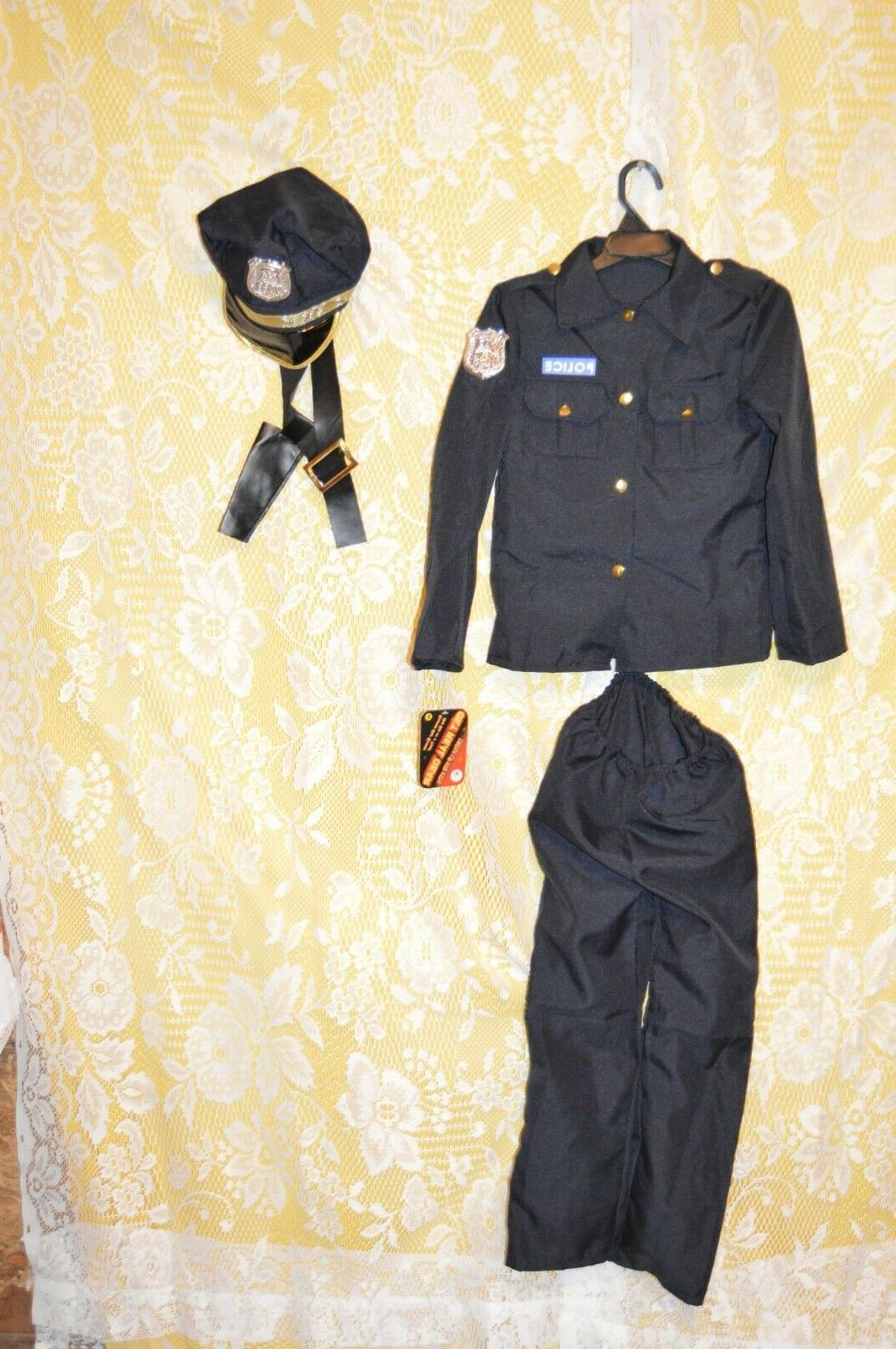 childs policeman costume outfit kids dress up