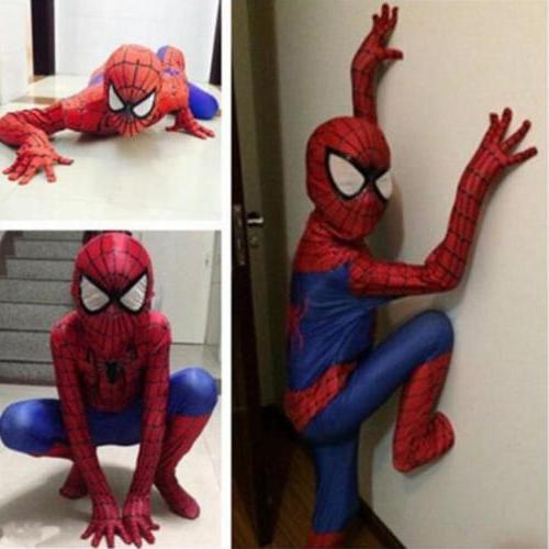 Christmas Party Boy Spiderman Costume Kids Superhero Cosplay
