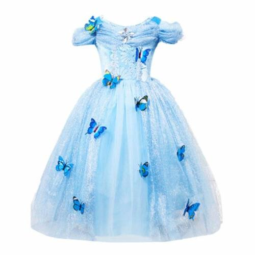 Cinderella Princess#2 Butterfly Party Dress kids Costume Dre
