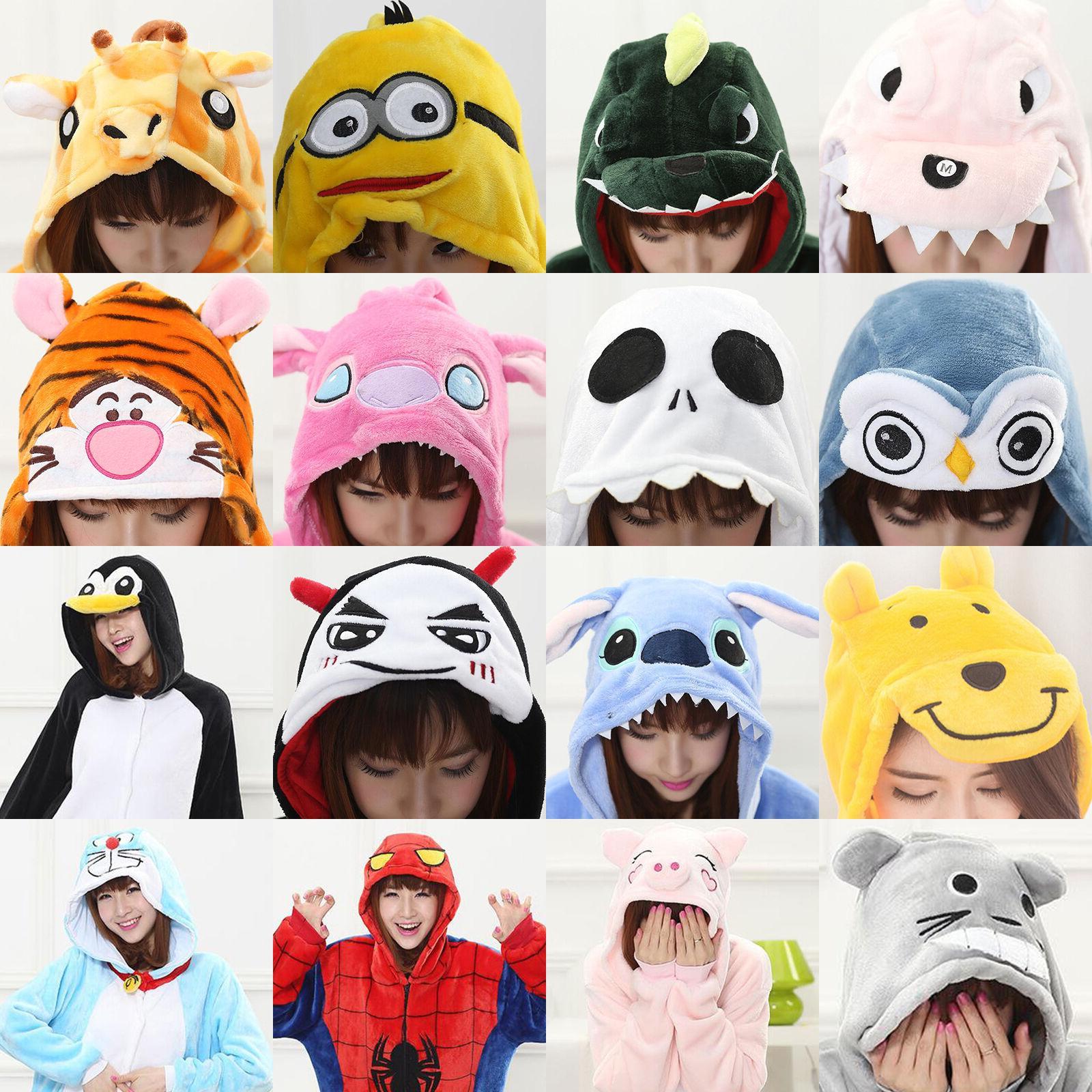 Hot Adults Animal Kigurumi Pajamas Cosplay Sleepwear Costumes