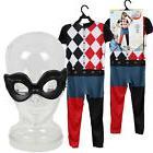 DC SUPER HERO GIRLS HARLEY QUINN Jumpsuit + Mask Kids Child