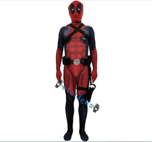Deadpool 2 Cosplay Costume Muscle Version Bodysuit Jumpsuit