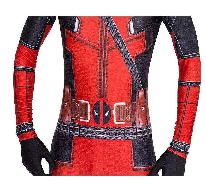 US Deadpool Cosplay Jumpsuits Bodysuits
