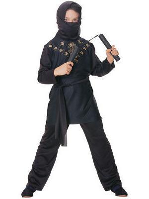Deluxe Child Boys Sneaky Black Ninja Costume