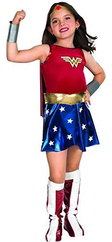 Girl's Deluxe Wonder Woman Costume
