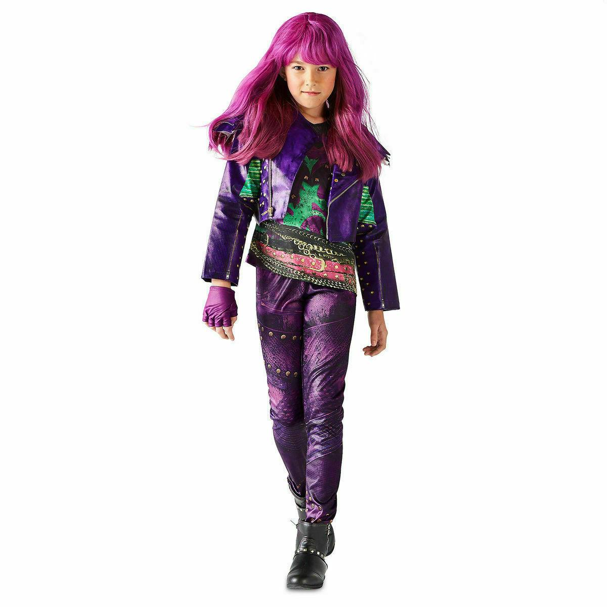 Disney Descendants Mal Costume Girls 5-6 4 Piece