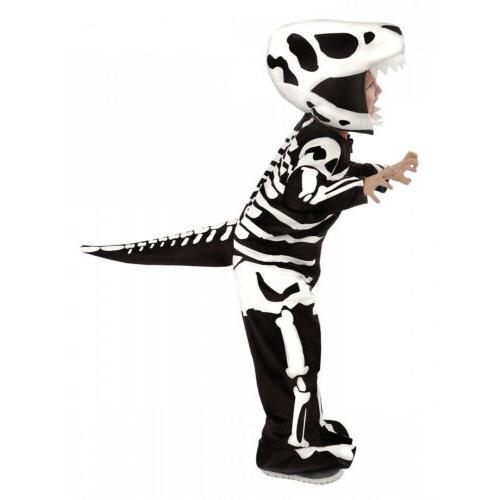 Dinosaur Costume Skeleton Fossil Halloween Fancy Dress