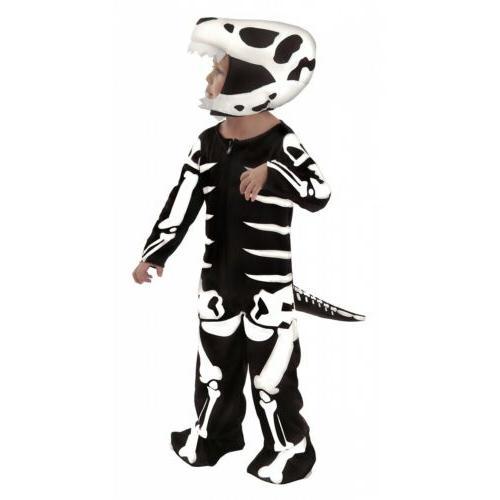 dinosaur costume kids t rex skeleton fossil