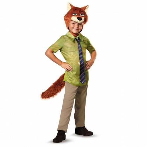 Disguise Nick Wilde Classic Zootopia Disney Boys Costume, Ki