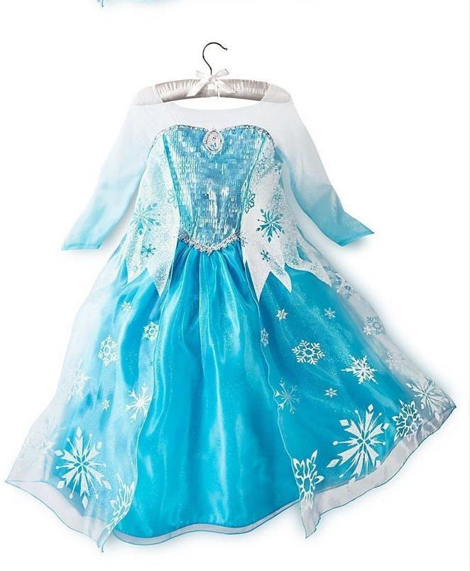 Disney Elsa Queen Costume Snow Dress