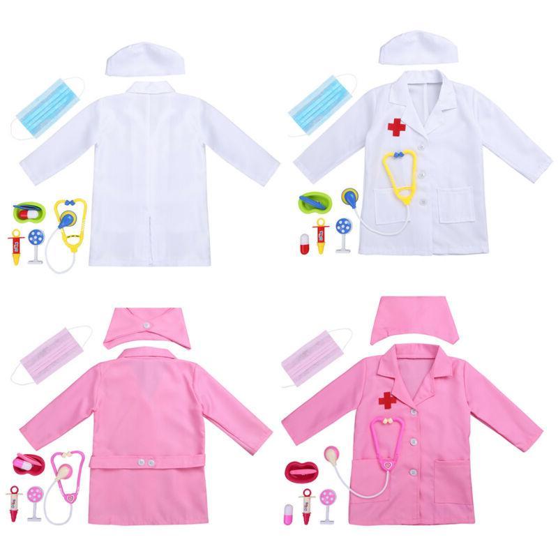US Doctor Dress Girls Nurse Paramedic Scrub Uniform