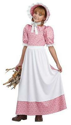 Early American Frontier Girl Dress Child Costume X-Large 12-
