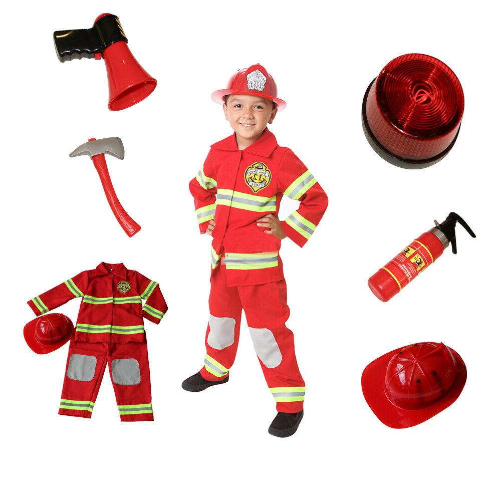 Firefighter Costume Kids Light up badge, Accessories Fire ma