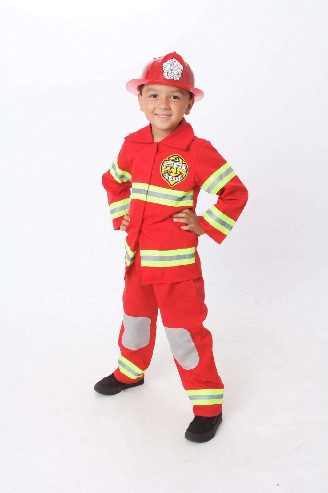 firefighter costume kids light up badge