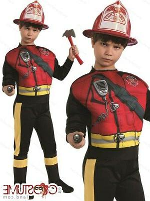 fireman boys costume kids fancy fire fighter