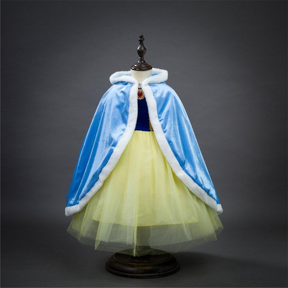 <font><b>Girls</b></font> Velvet Cloak Children Elsa Cape Christmas Baby <font><b>Girls</b></font> Sofia Rapunzel Mantle