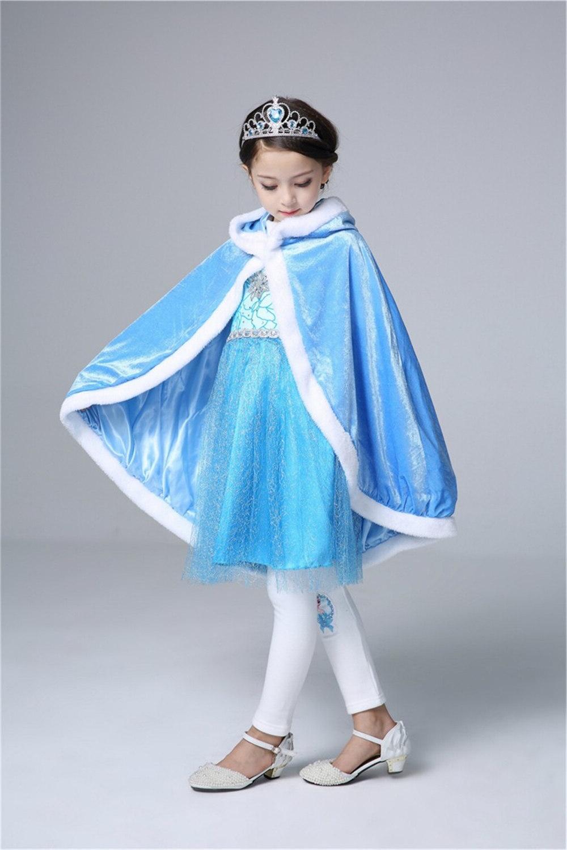 <font><b>Girls</b></font> Velvet Cloak Children Christmas Halloween Baby Sofia Rapunzel Aurora