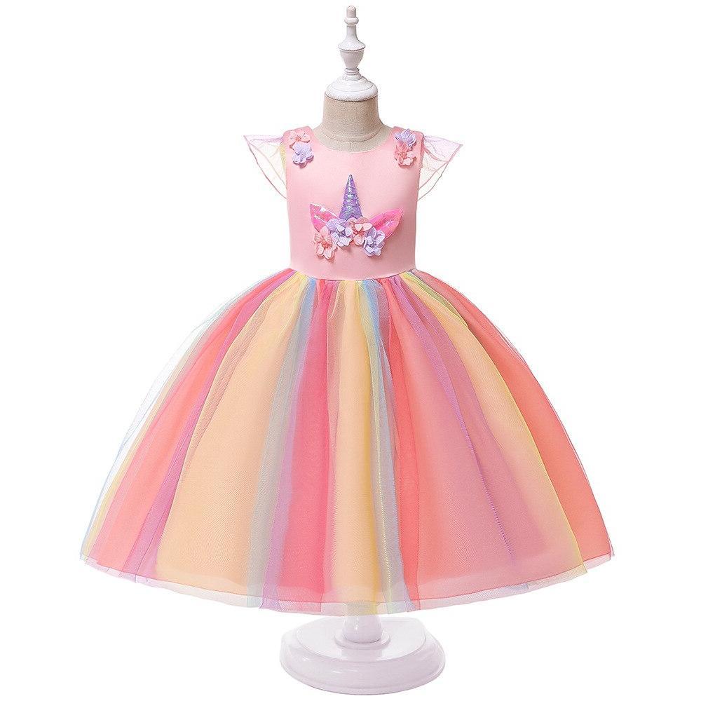 <font><b>Girls</b></font> <font><b>Costume</b></font> Ball Cosplay <font><b>Kids</b></font> Unicorn Fancy Dresses