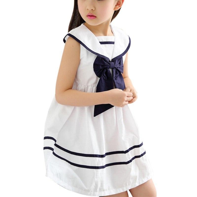 <font><b>Kids</b></font> Baby School Girls Bow <font><b>Navy</b></font> Suit Party Dresses Clothes