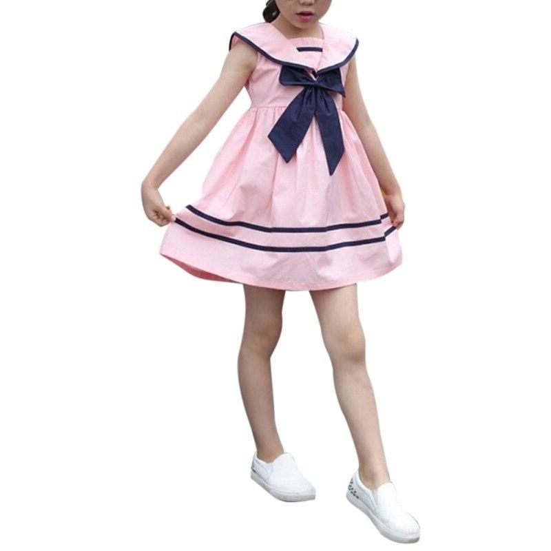 <font><b>Kids</b></font> Baby Dress School Girls Sailor Suit Dresses