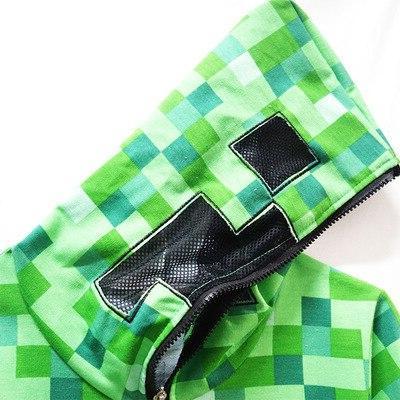 <font><b>kids</b></font> Winter Outwear Minecrafters Cartoon Sweatshirts Shirt Game Creeper Cosplay Jacket