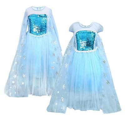 Frozen Elsa Dress Party Girls