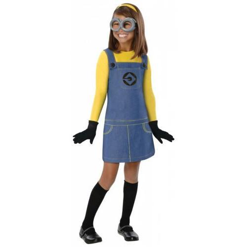 girl minion costume kids halloween fancy dress