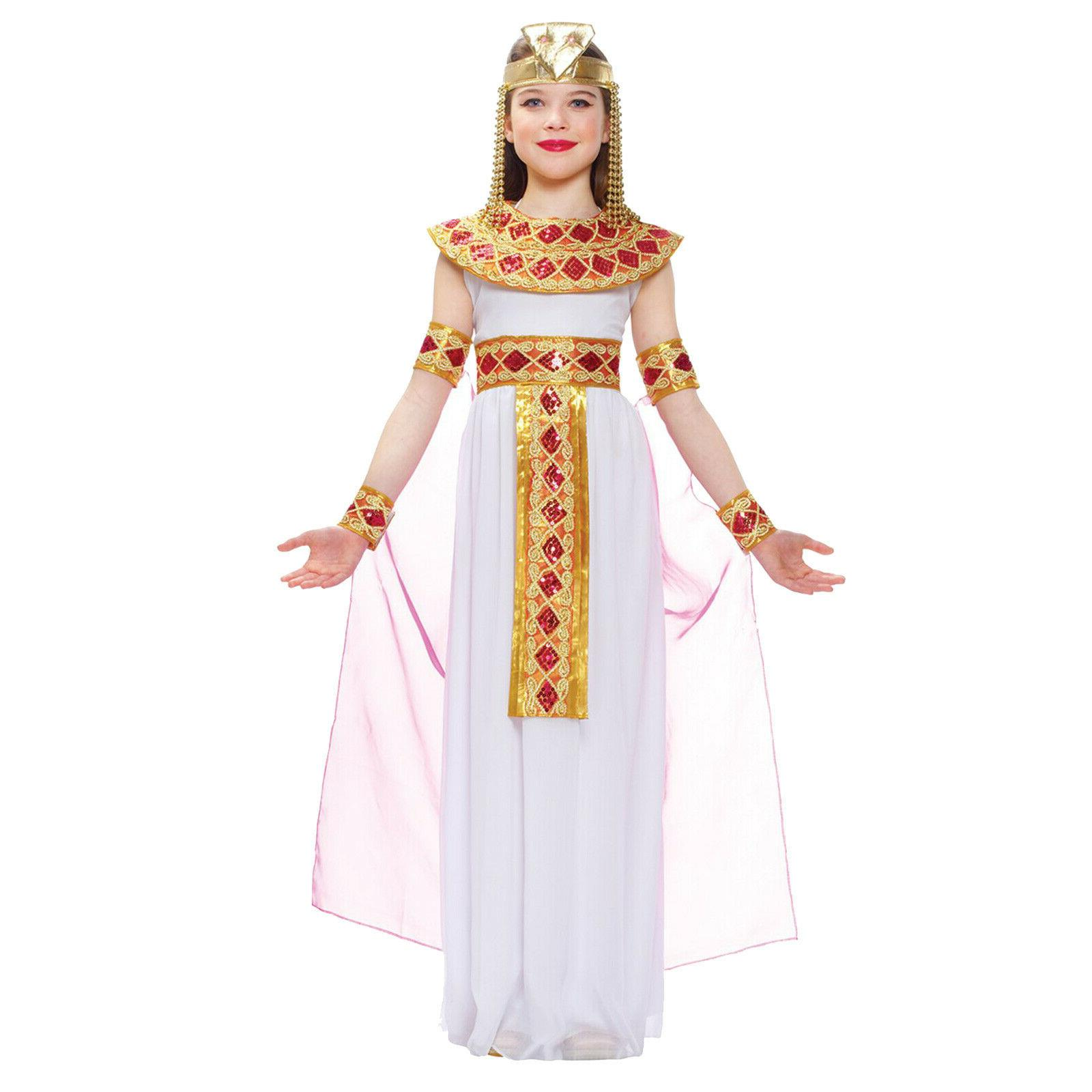 girl s cleopatra child costume pink complete