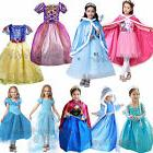 Girl's Kid's Fancy Dress Up for Snow White Rapunzel Cinderel