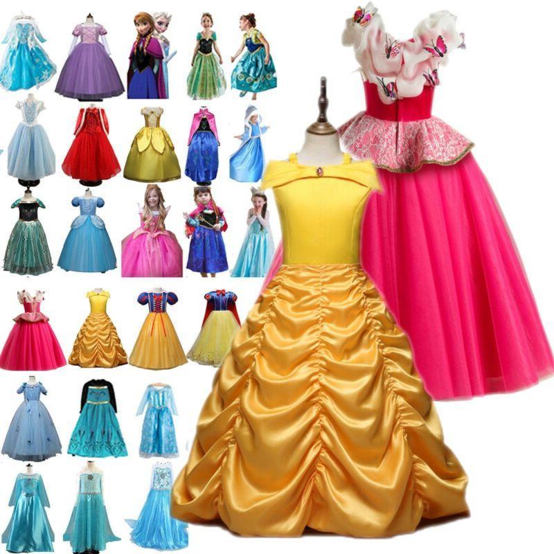girls clothing princess belle cinderella kids costume
