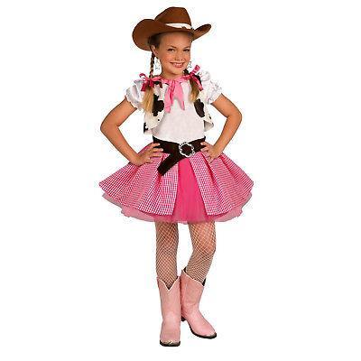 Girls Cowgirl Cutie Kids Cow Fancy Dress Cowboy Sweetie Hat